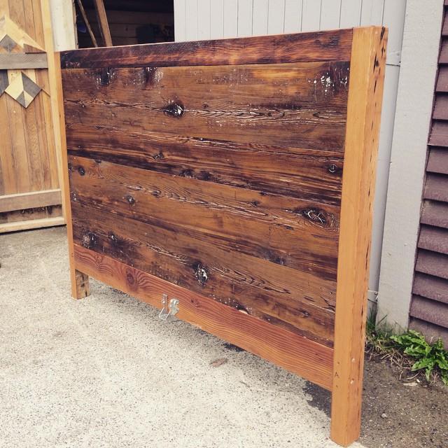 Headboard Reclaimed Fir - Thick Horizontal Plank # 8