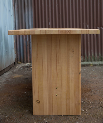 Fir Lam Trestle Table Detail