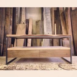 Modern Coffee Table Wood & Metal