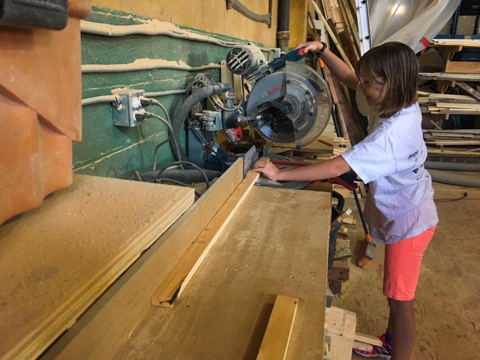 Junior Jade woodworking